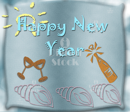 Happy New Year greetings - iDigitalStock - Royalty free stock images ...