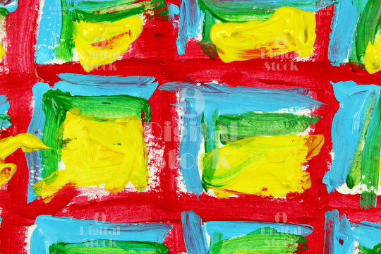 Red yellow and blue abstract background